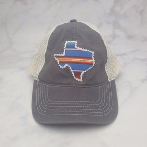 ZKapz Texas Boho Snap-Back Grey&White Trucker Hat!